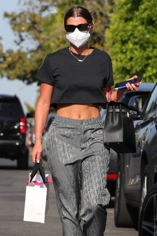SOFIA RICHIE Shopping on Melrose Place in West Hollywood 05/26/2021
