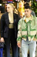 SOPHIE TURNER and Joe Jonas at Il Pastaio in Beverly Hills 05/14/2021