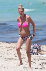 TARA REID in a Pink Bikini at a Beach in Miami 05/11/2021