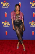 TAYLOUR PAIGE at 2021 MTV Movie Awards in Los Angeles 05/16/2021