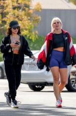 VANESSA HUDGENS and GG MAGREE Arrives at Dogpound Gym Los Angeles 05/06/2021