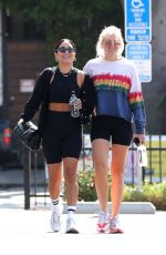 VANESSA HUDGENS and GG MAGREE at a Gym in West Hollywood 05/04/2021