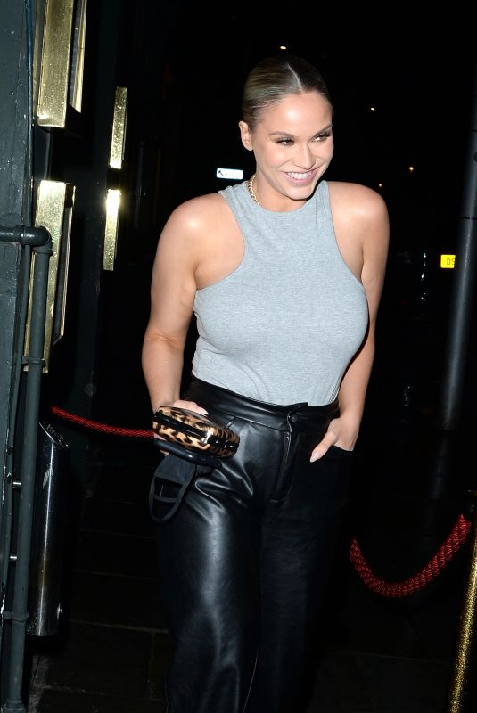 VICKY PATTISON at Ours Restaurant in London 05/20/202`