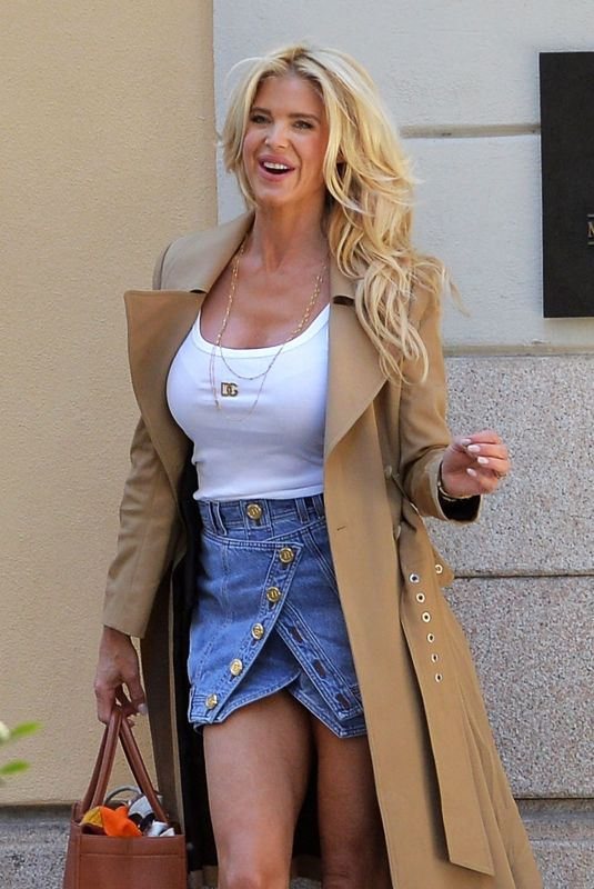 VICTORIA SILVSTEDT Outside Her Hotel in Milan 05/17/2021