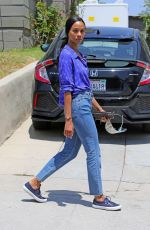 ZOE SALDANA Out and About in Los Angeles 05/11/2021
