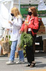 ZOEY DEUTCH at a Farmers Market in Los Angeles 05/30/2021