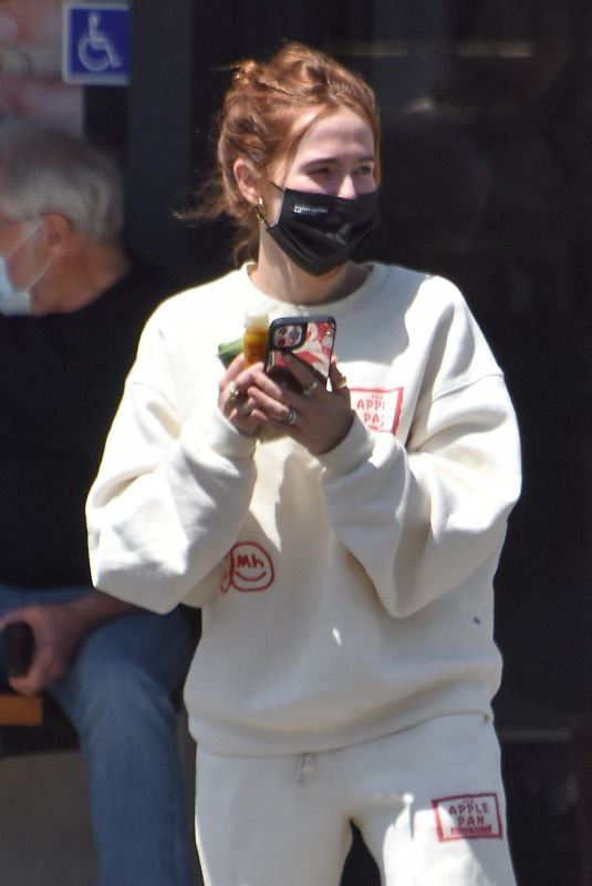 ZOEY DEUTCH at Alfred Coffee in Studio City 05/14/2021
