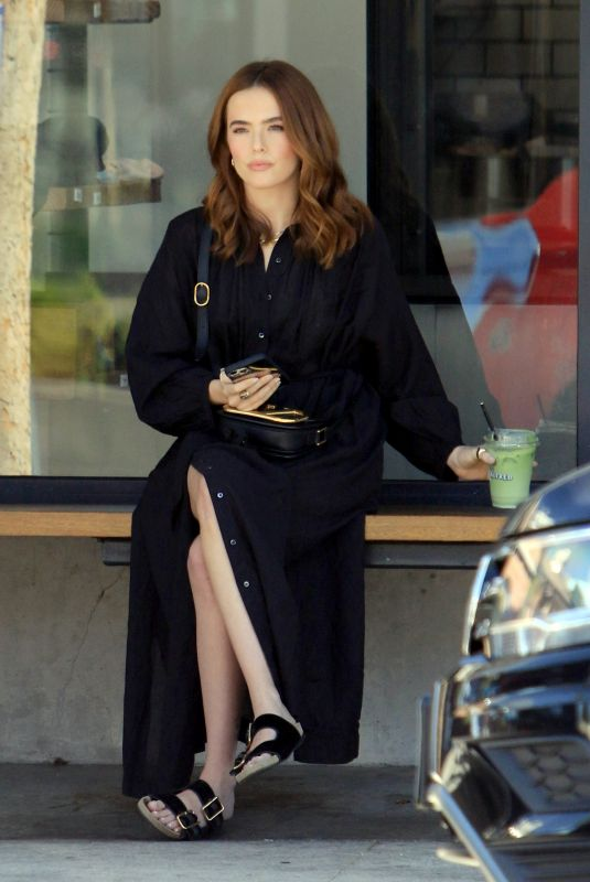ZOEY DEUTCH at Alfred's Coffee in Los Angeles 05/26/2021