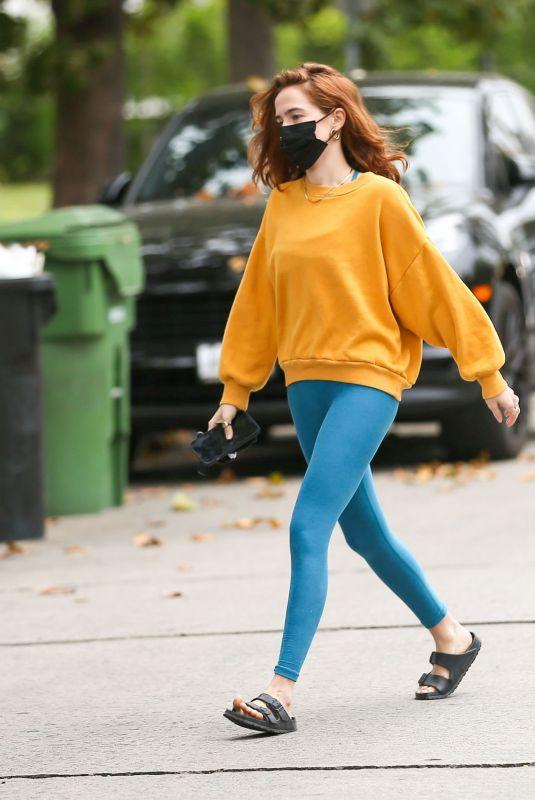 ZOEY DEUTCH Leaves Her House in Los Angeles 05/19/2021
