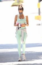 ALESSANDRA AMBROSIO Arrives at Pilates Class in West Hollywood 06/14/2021