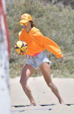 ALESSANDRA AMBROSIO Playing Beach Volleyball in Santa Monica 06/04/2021