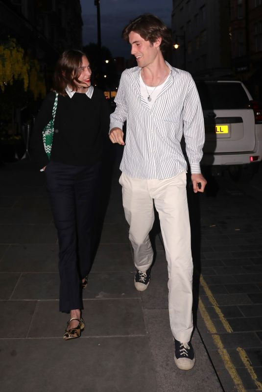 ALEXA CHUNG and Orson Fry at Scott's in London 06/05/2021
