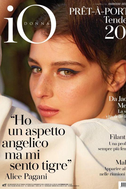 ALICE PAGANI in Io Donna Del Corriere Della Sera, February 2021