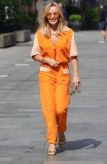 AMANDA HOLDEN in a Orange Jumpsuit Out in London 06/24/2021