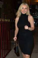 AMY HART Leaves Circus Restaurant in London 06/17/2021