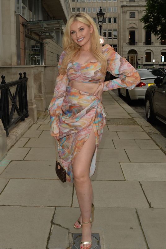 AMY HART Out for Dinner in London 06/24/2021