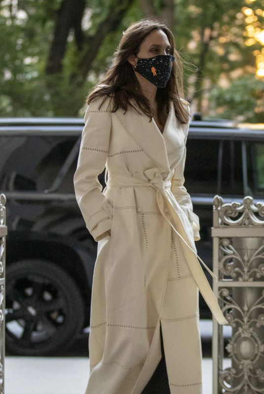 ANGELINA JOLIE Leaves a Meeting at United Nations in New York 06/22/2021