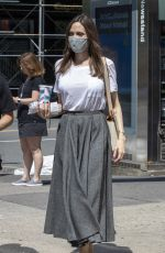 ANGELINA JOLIE Out and About in New York 06/07/2021