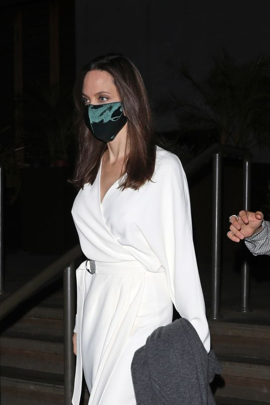 ANGELINA JOLIE Out for Dinner in Los Angeles 06/21/2021