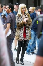 ANNE HATHAWAY on the Set of WeCrashed in New York 06/11/2021