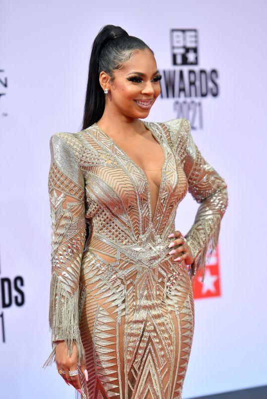 ASHANTI at 2021 BET Awards in Los Angeles 06/27/2021