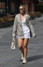 ASHLEY ROBERTS Arrives at Heart Radio in London 06/15/2021