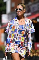 ASHLEY ROBERTS Arrives at Heart Radio in London 06/16/2021