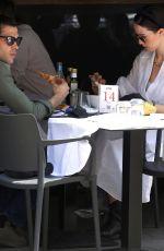 AURORA RAMAZOTTI and Goffredo Cerza at Pha Resaturant in Milan 06/08/2021