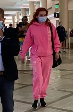 BELLA and DANI THORE at LAX Airport in Los Angeles 06/04/2021