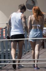 BELLA and KAILI THORNE Boating in Lake Como with Friends 06/24/2021