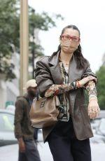 BELLA HADID Heading to Francois Pinault Exhibition at Paris Fashion Week 06/24/2021