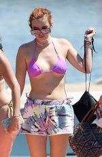 BELLA THORNE in Bikini on Lake Como in Italy 06/25/2021