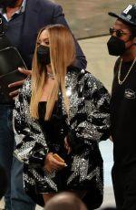 BEYONCE and Jay-Z at Milwaukee Bucks vs Brooklyn Nets Game in New York 06/05/2021
