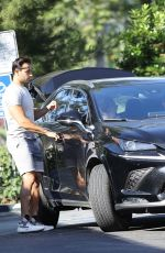 BRITNEY SPEARS and Sam Asghari Out Driving in Los Angeles 06/24/2021