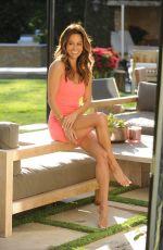 BROOKE BURKE on the Set of a Interview in Her Backyard in Malibu 06/09/2021