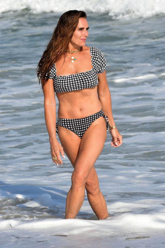 BROOKE SHIELDS in Bikini at a Beach in Hamptons 06/21/2021