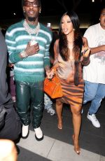 CARDI B at BOA Steakhouse in West Hollywood 06/27/2021