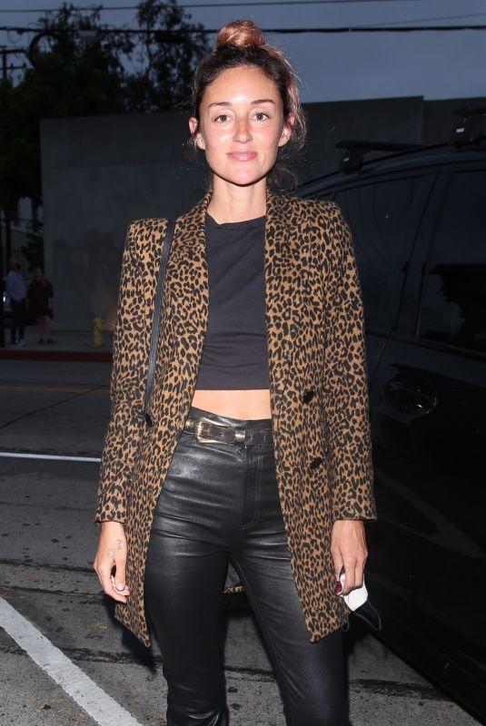 CAROLINE D'AMORE Arrives at Craig's in West Hollywood 06/02/2021