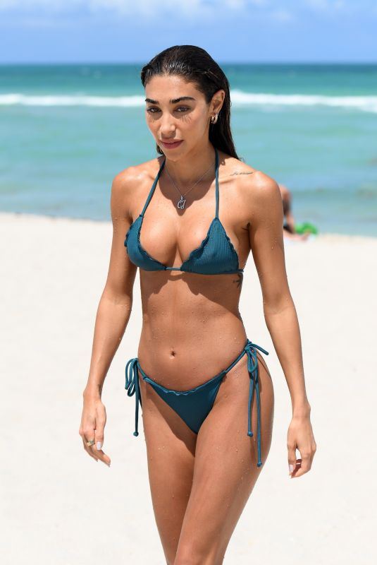 CHANTEL JEFFRIES in Bikini at a Beach in Miami 06/07/2021