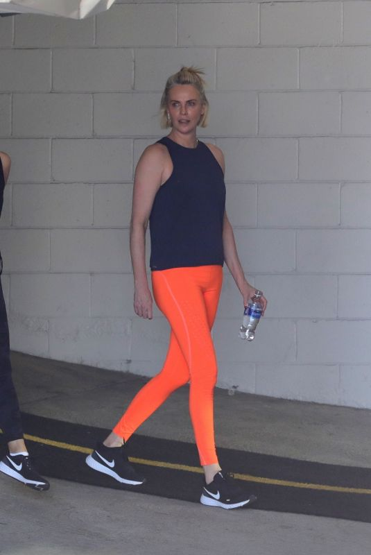 CHARLIZE THERON Leaves a Gym in Beverly Hills 06/11/2021