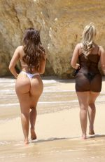 CHLOE FERRY and BETHAN KERSHAW in Bikinis at a Beach in Albufeira 06/01/2021