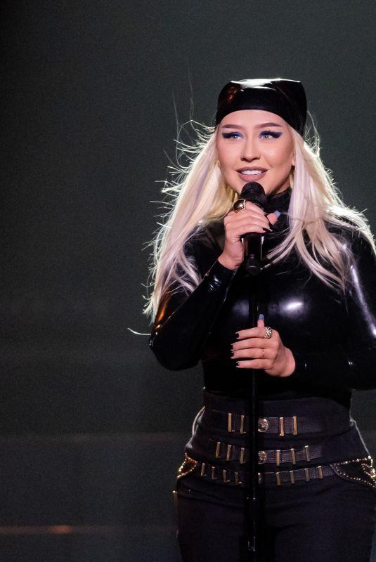 CHRISTINA AGUILERA Performs at Virgin Hotels in Las Vegas 06/10/2021