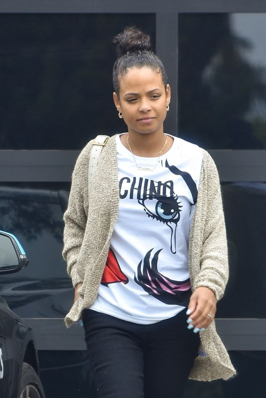CHRISTINA MILIAN Out for Lunch at Mauro's Cafe in West Hollywood 06/07/2021