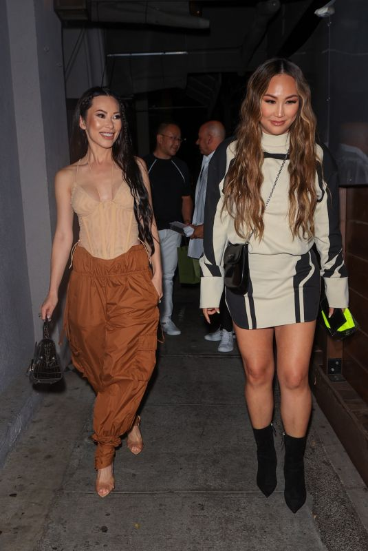 CHRISTINE CHIU and DOROTHY WANG at Craig's in West Hollywood 06/18/2021