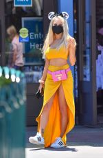 COURTNEY STODDEN and Chris Sheng Out in Los Angeles 06/04/2021
