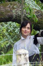 DAKOTA JOHNSON and NIKKI AMUKA-BIRD on the Set of Netflix Adaptation of Persuasion in Salisbury 06/12/2021
