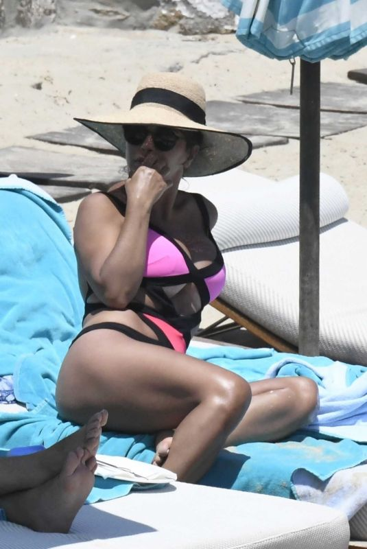 DANIELLA SEMAAN in Bikini at a Beach in Greece 06/18/2021