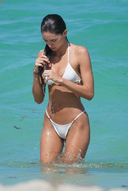 DEBBIE ST. PIERRE in Bikini at a Beach in Miami 06/10/201