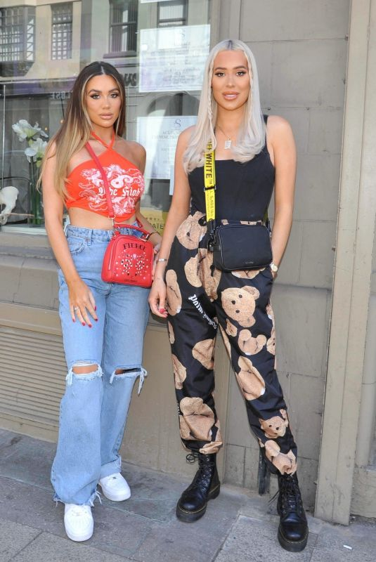DEMI and FRANKIE SIMS at Boujee Bar an Restaraunt in Manchester 06/05/2021