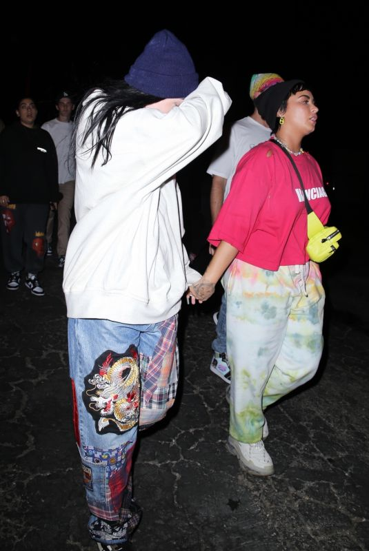 DEMI LOVATO and NOAH CYRUS at Space Jam Premiere at Six Flags Magic Mountain in Valencia 06/29/2021